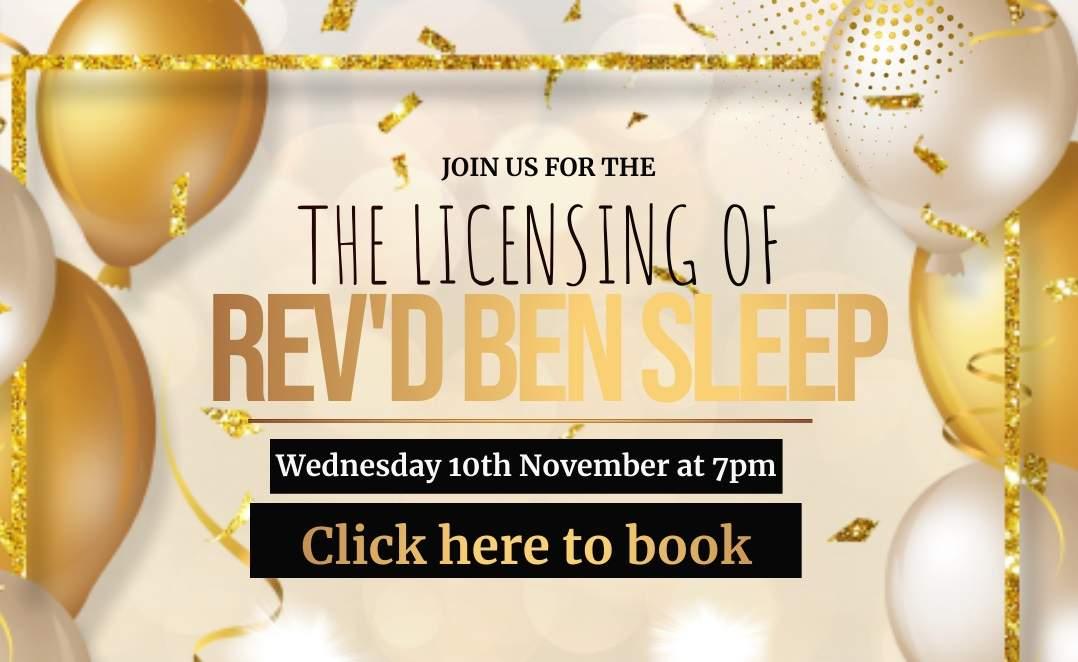 Licensing of Rev'd Benjamin Sleep
